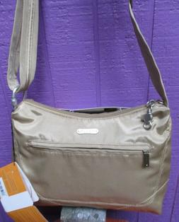 Travelon Anti-Theft Classic Hobo Bag, Tan New With Tags Carr