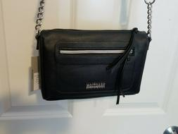 Kenneth Cole Reaction Black PVC Purse NEW Mini Town Crossbod