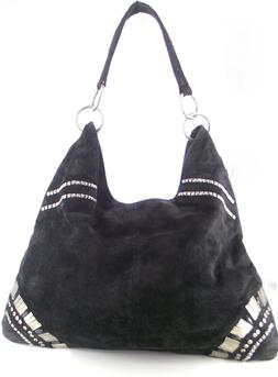 THE LIMITED BLACK WITH SILVER HARDWARE HOBO NWT