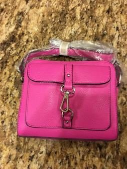 CLEARANCE SALE!!! Pink Faux Leather Handbag With Shoulder St