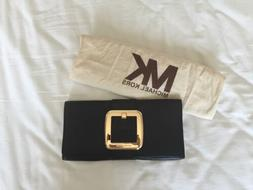 CLEARANCE SALE NWOT auth MICHAEL/ Michael Kors  BLACK leathe