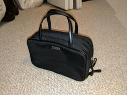 Coach Cosmetic Black Purse with 3 zipper compartments