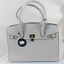 Deluxity Woman Handbag Laptop Shoulder tote with matching Zi