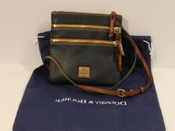 Dooney & Bourke Pebble Leather Triple Zip Crossbody Handbag