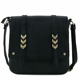 Double Compartment Large Flapover Crossbody Lightweight Bag