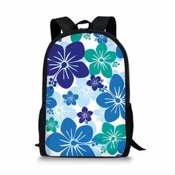 "Floral Backpack Women Casual 17"" School Bag Fashion Book Bag"