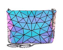 Geometric Luminous Purses and Handbags for Women Holographic
