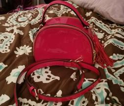 Alyssa Glossy Red Shoulder Crossbody Bag Handbag Purse NEW N