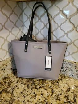Nine West Gray Society Girl Tote Handbag With Coin Purse MSR