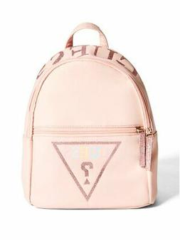 GUESS Factory Berry Rainbow Glitter Logo Backpack