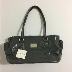 handbag purse gray brand new excellent condition