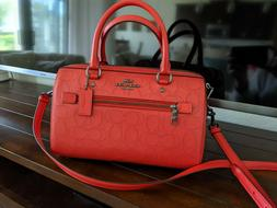 coach handbags new red crossbody sachet MSRP $328