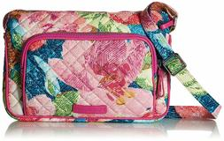 "Vera Bradley Iconic RFID Little Hipster Crossbody ""Superbloo"