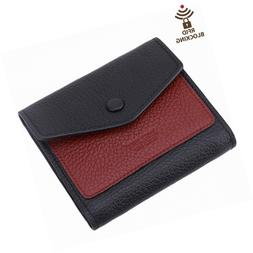 Itslife Women's Small Leather Wallet RFID Card Holder Mini B