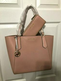 Michael Kors Kimberly Large Top Zip Pebbled Leather Tote/Wal