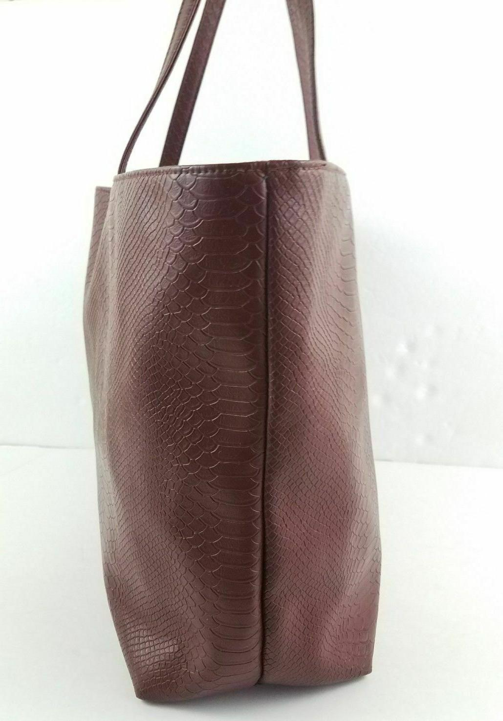 Bloomingdale's Burgundy Leather Shoulder
