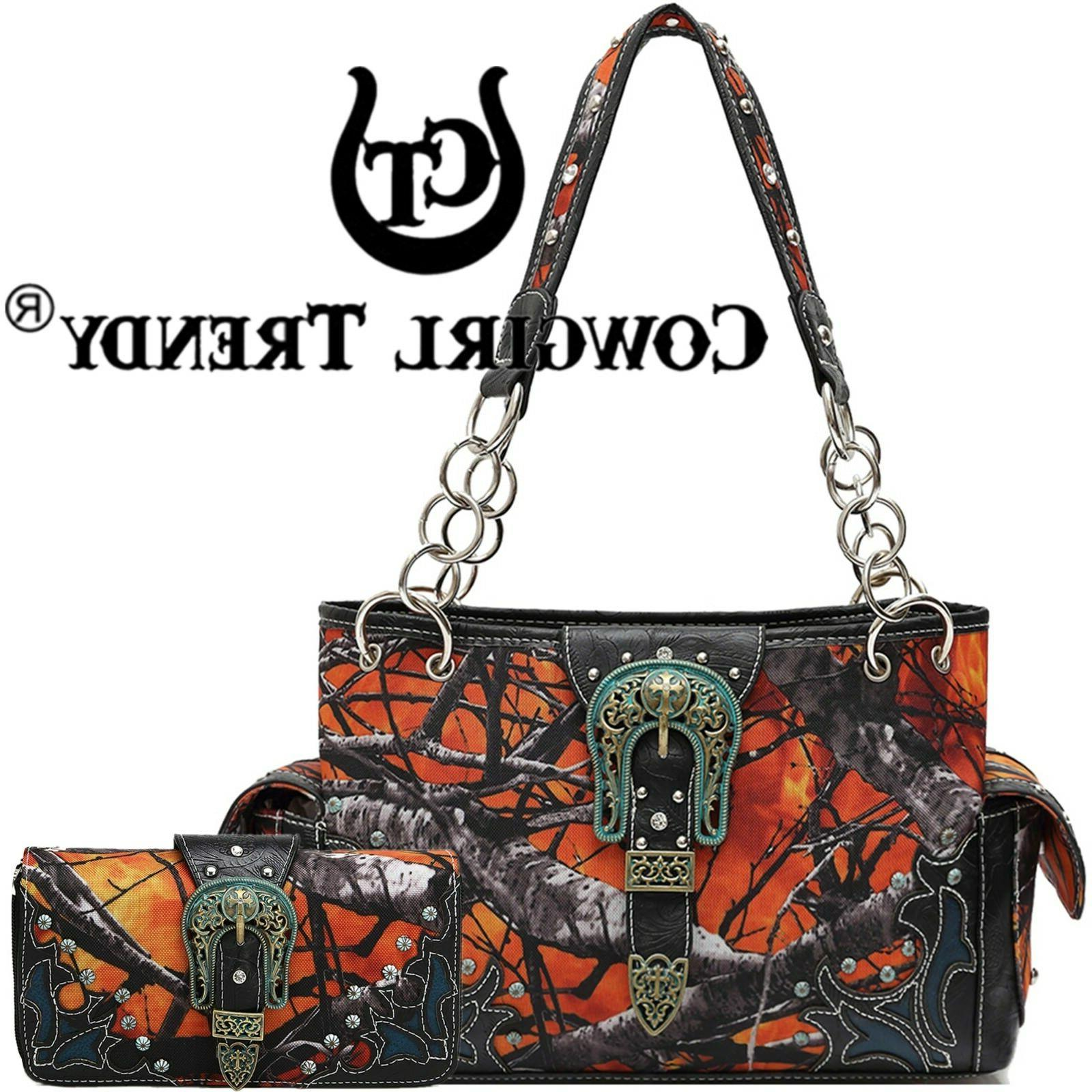 camouflage buckle purse concealed carry handbags women