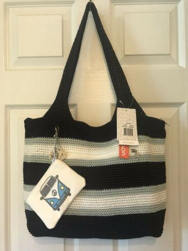 casual classic valley xl tote navy stripe