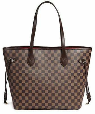 Daisy Checkered Shoulder Bag inner pouch -