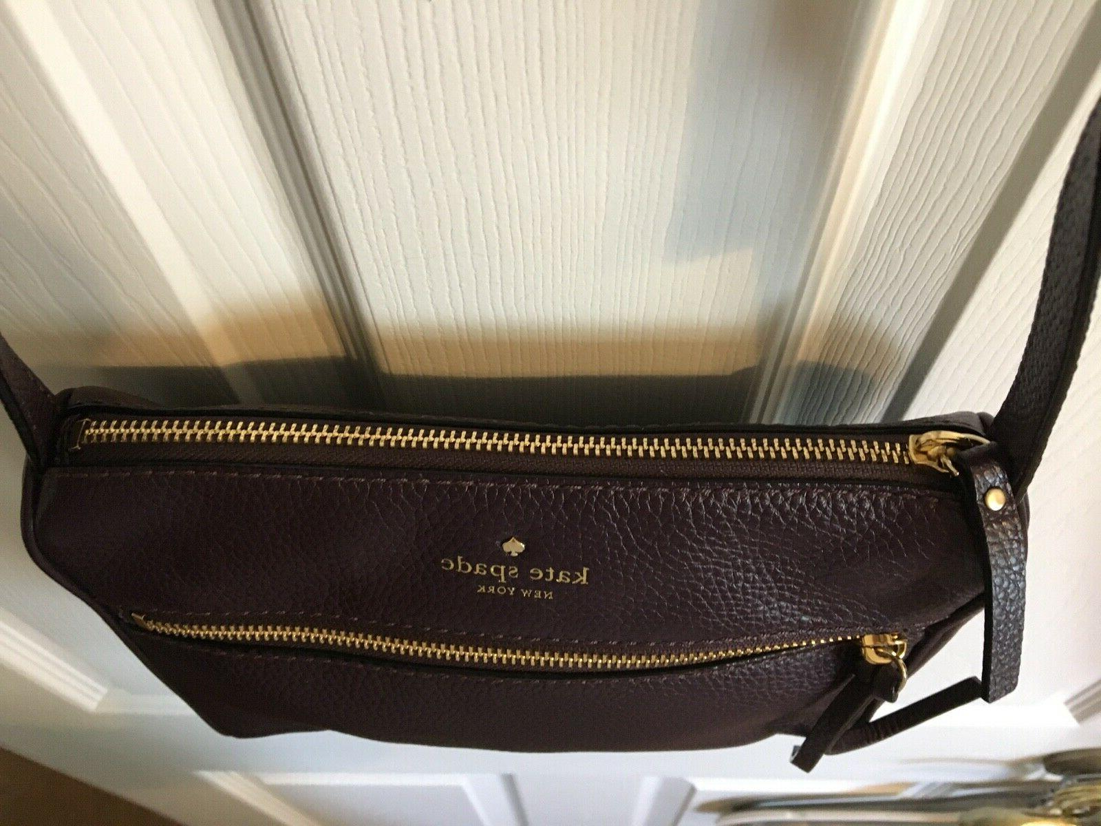 CLEARANCE- REDUCED - KATE plum leather