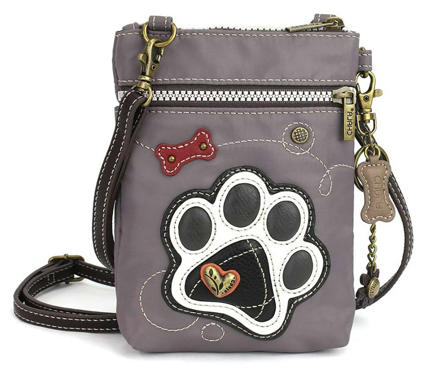 handbags paw print cell phone crossbody bag