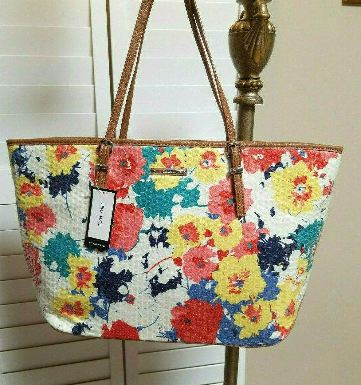 nwt sequin floral tote purse it girl
