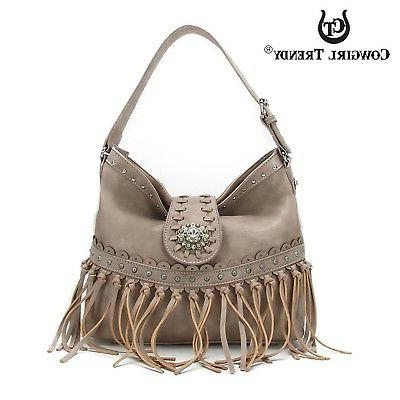 purses handbags western knotted fringe footed trendy