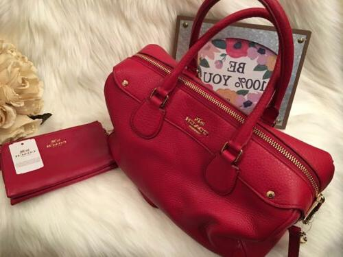 red handbags with matching wallet