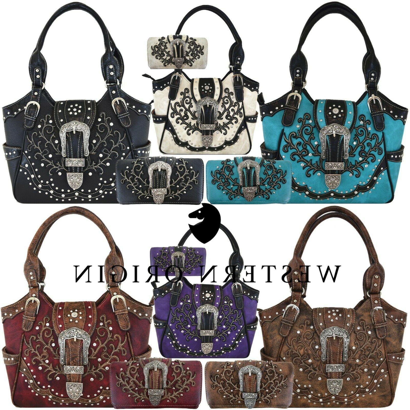 western buckle country handbag concealed carry purse