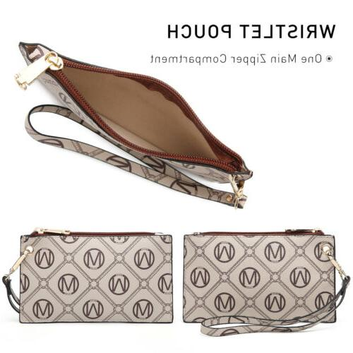 Dasein Handle Handbags 3pcs Set Wallet.