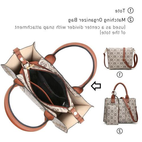 Dasein Handle Handbags 3pcs Set Purses Wallet.