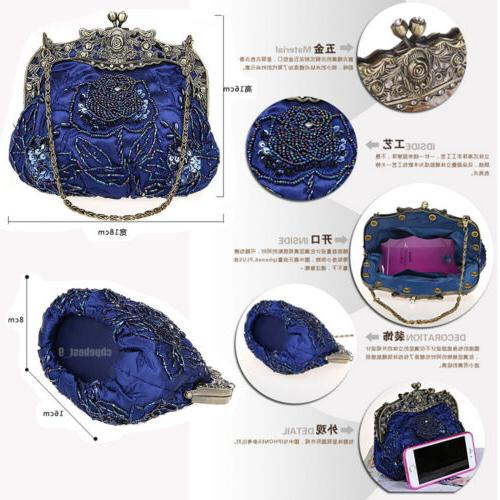 Women's Bags Party Wedding Clutches Rose Purse Handbags