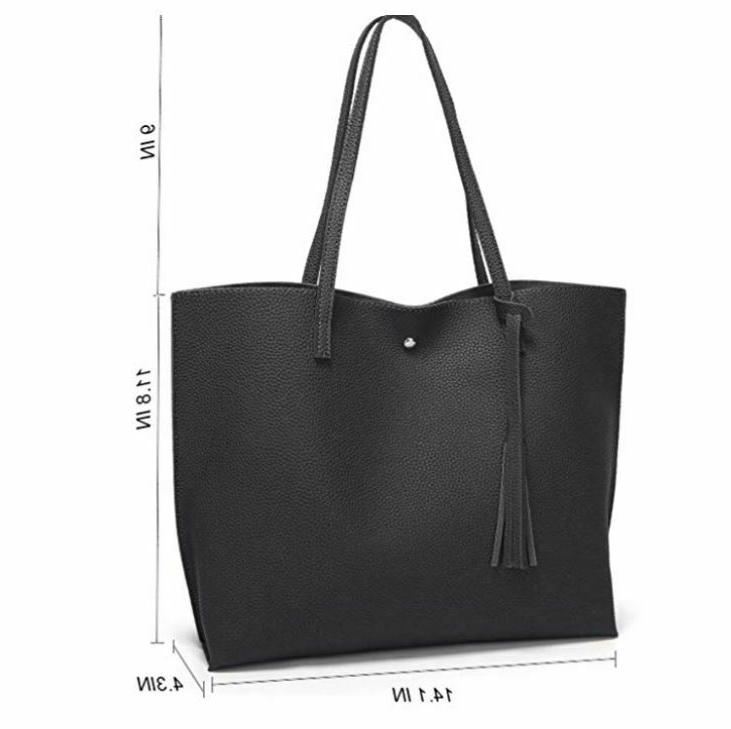 Women's Faux Leather Tote Shoulder from Dreubea