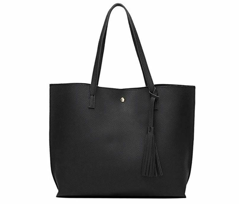 women s soft faux leather tote shoulder