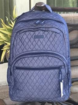 VERA BRADLEY LARGE ESSENTIAL LAPTOP BACKPACK BOOK DENIM $189