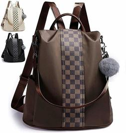 Leather Backpack Purse Anti Theft Rucksack Lightweight Shoul