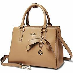 Cluci Leather Handbags Designer Tote Purse Shoulder Satchel