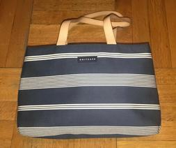 Kenneth Cole Reaction Navy Blue & White Striped Handbag w/ S