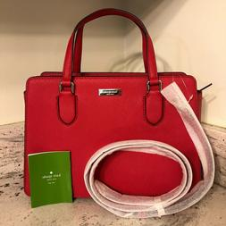 NEW $359 Kate Spade Reese Laurel Way Hot Chili Red Leather H