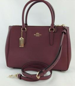 New Authentic Coach F44958 Leather Surrey Carryall Satchel P