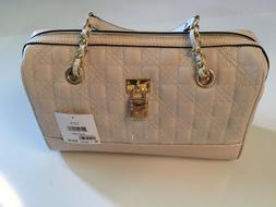 Anne Klein NEW Beige Quilted and Faux Alligator Satchel Styl
