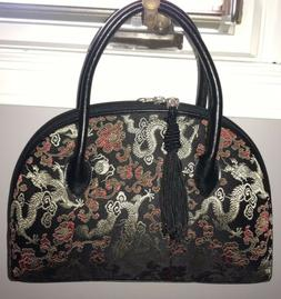 New Black, Red, And Gold Chinese Dragon Purse
