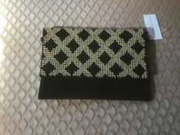 NEW Ann Taylor Factory Black Beaded Purse Criss Body Nwt
