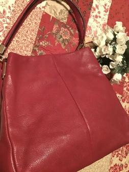 New coach handbags leather in Red
