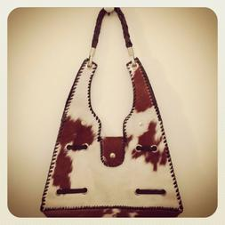 New Leather and Fur Handbag. Hand Made in Bali. One of a Kin
