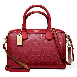 New Coach Mini Bennet Satchel Embossed Patent Leather 11920