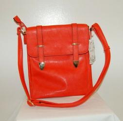 Alyssa New Orange Vegan And Lead Free Crossbody Purse Handba
