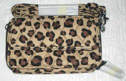 NEW WITH TAG, VERA BRADLEY LEOPARD  ALL IN ONE CROSSBODY WAL