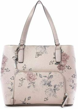 NEW GUESS Women's Misay Metallic Pink Rose Floral Print Hand
