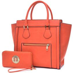 New Womens Handbags Leather Satchels Tote Shoulder Bags Wing
